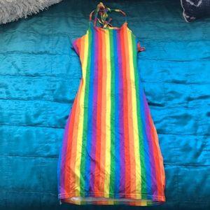 Rainbow Mini Dress 🌈💜